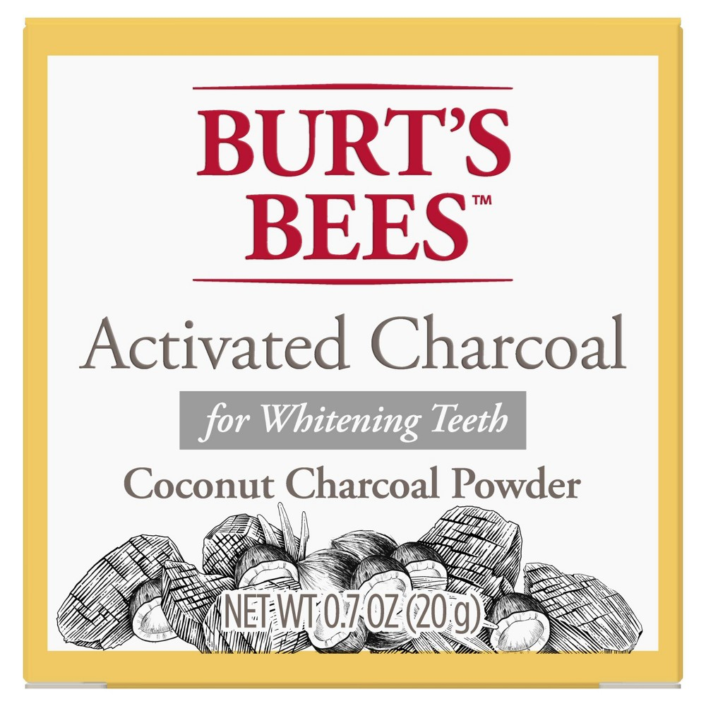 Image of Burt's Bees Activated Charcoal Powder for Whitening Teeth - 0.7oz