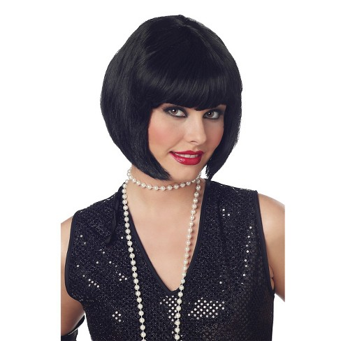 Halloween Women's Flapper Costume Wig Black - One Size Fits Most - image 1 of 1