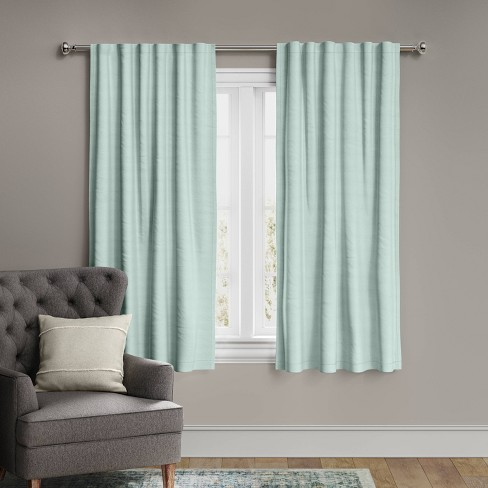 Voile Overlay Blackout Window Curtain Panel - Threshold™ - image 1 of 4