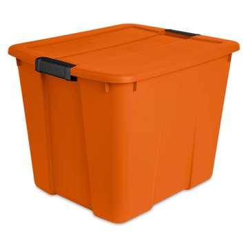 Sterilite 20gal Orange Tote With Latch