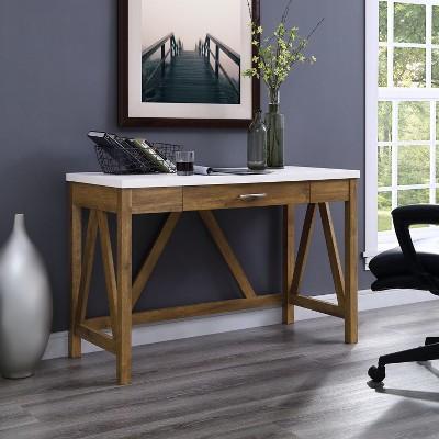 "46"" Rustic Farmhouse Single Drawer A Frame Desk - Saracina Home : Target"