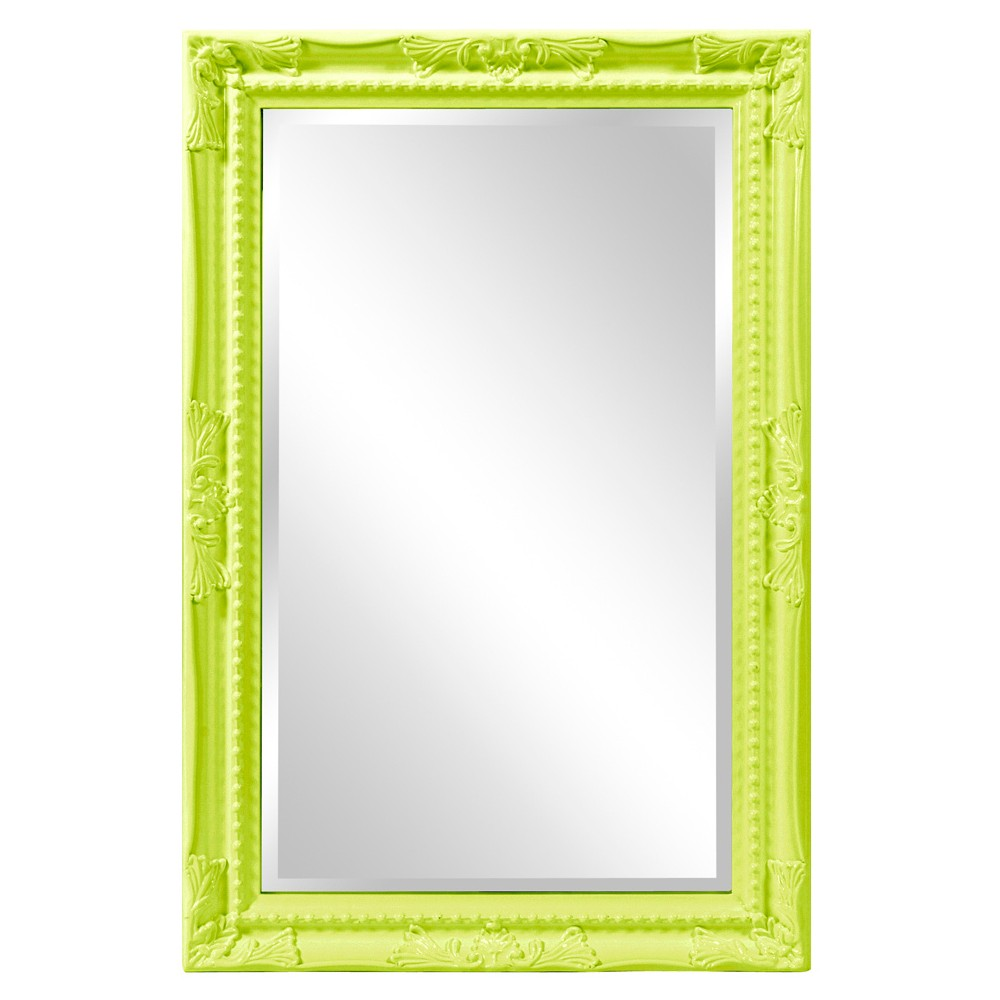 Image of Howard Elliott - Queen Ann Rectangular - Glossy Green Mirror
