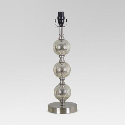 Stacked Ball Lamp Base Mercury Glass Large (Includes LED Bulb)- Threshold™
