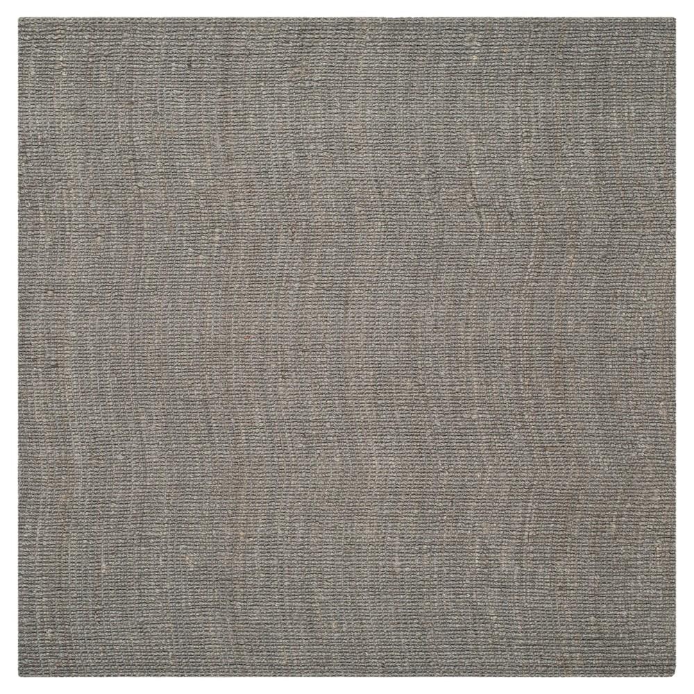 Serena Natural Fiber Area Rug - Light Gray (8' X 8') - Safavieh