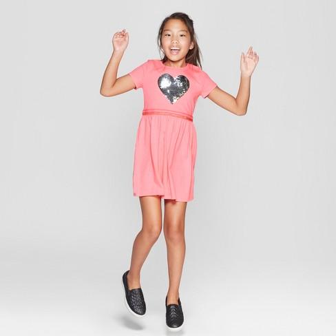 Girls  Flip Sequin Emoji Valentine s Day Dress - Cat   Jack™ Pink ... b2fb9513e
