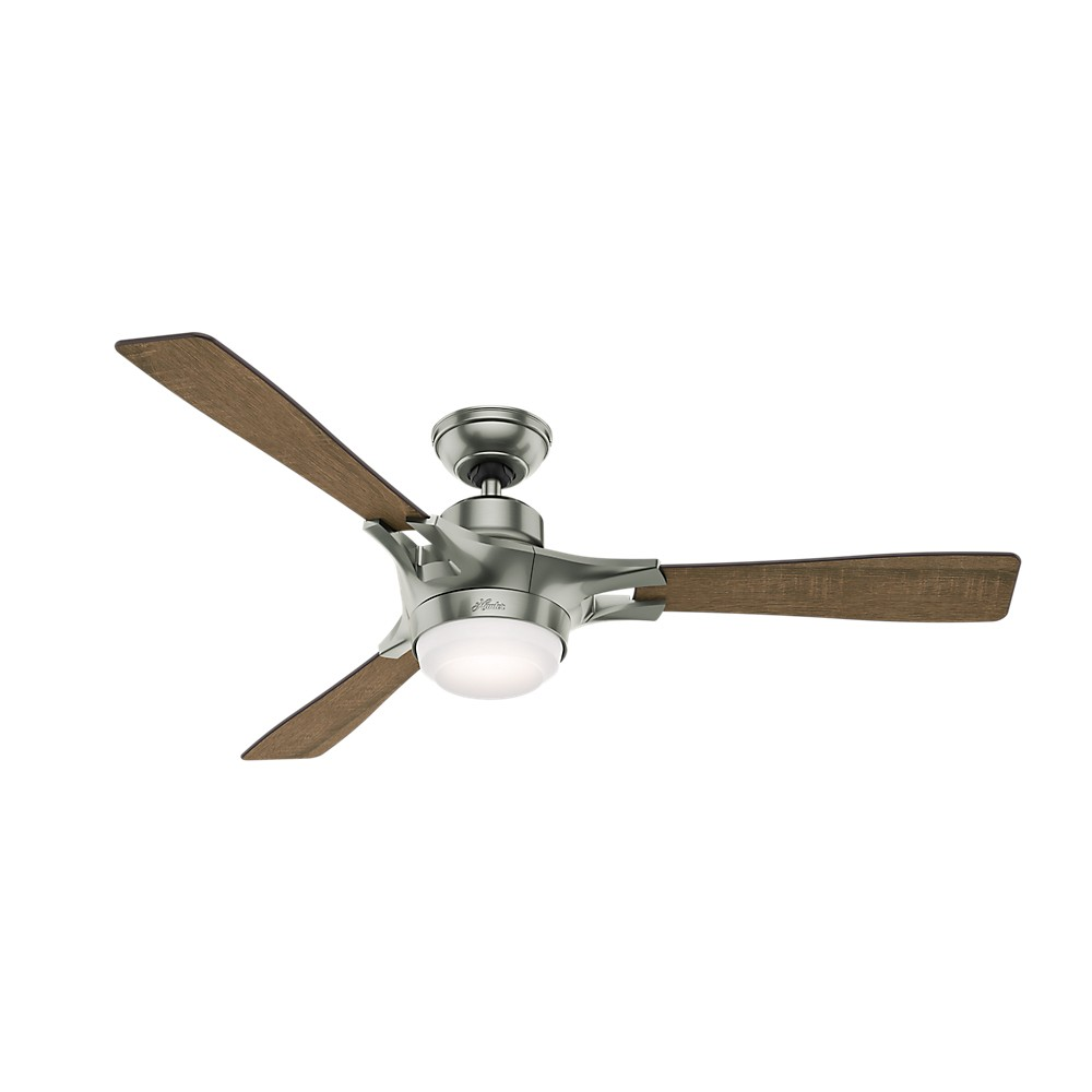 """Image of """"54"""""""" Wi-Fi Enabled HomeKit Compatible Signal Ceiling Fan with Light and Integrated Control System Handheld Satin Nickel - Hunter Fan"""""""