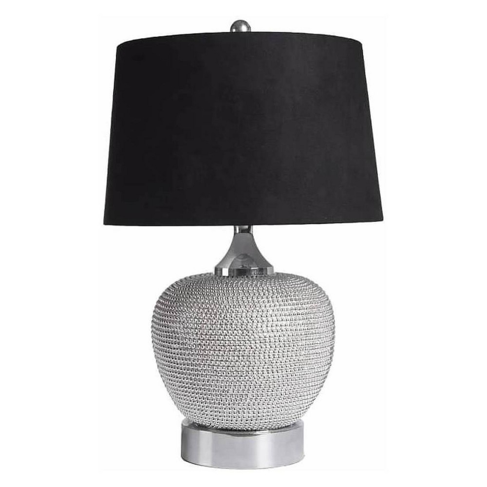 Celina Beaded Table Lamp Silver (Lamp Only) - Abbyson Living