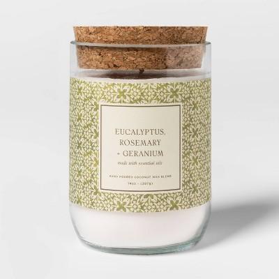 14oz Glass Eucalyptus Rosemary and Geranium Candle - Threshold™
