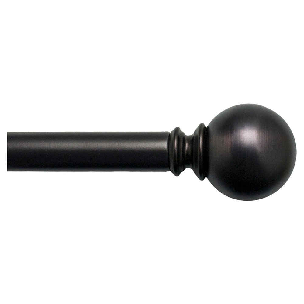 "Image of ""Bali 1"""" Ball Decorative Curtain Rod - Bronze (36-66"""")"""