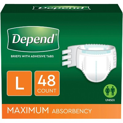 Depend Maximum Absorbency Incontinence Underwear Protection with Tabs