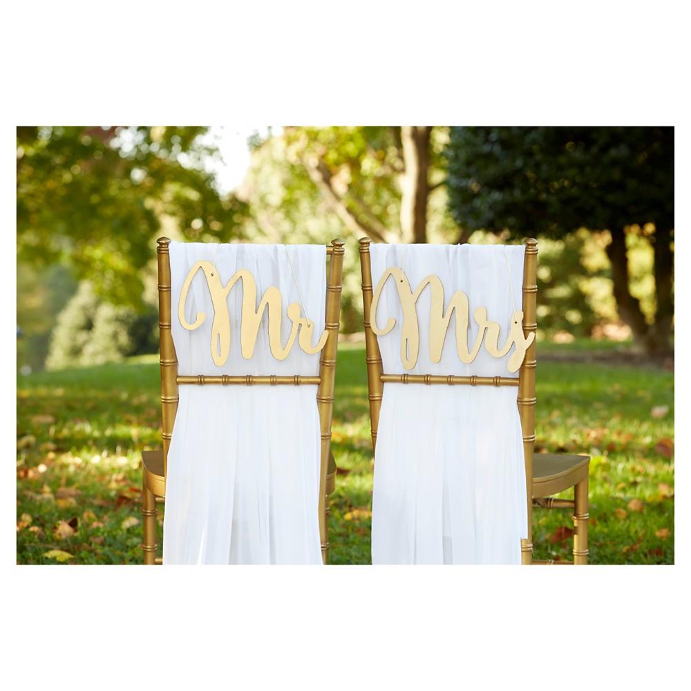 Kate Aspen Gold Promises Chair Backers