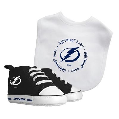 NHL Tampa Bay Lightning Bib and Pre-Walker Shoe Set
