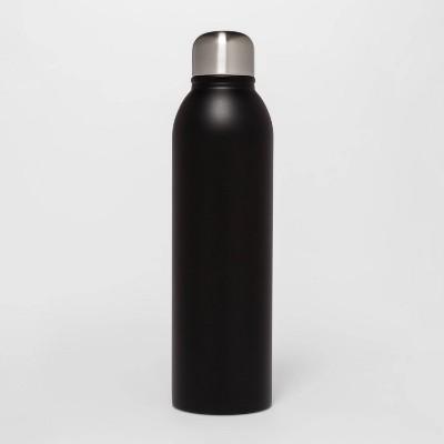 17oz Stainless Steel Water Bottle Matte Black - Room Essentials™