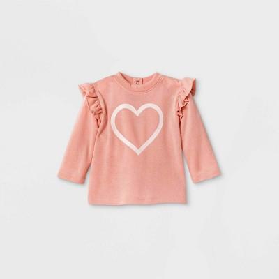 Grayson Mini Baby Girls' Heart Sweatshirt - Pink 6-9M