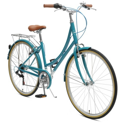 Critical Cycles Ladies Beaumont 7-speed City City Road Bike - 44cm - Turquoise - image 1 of 2