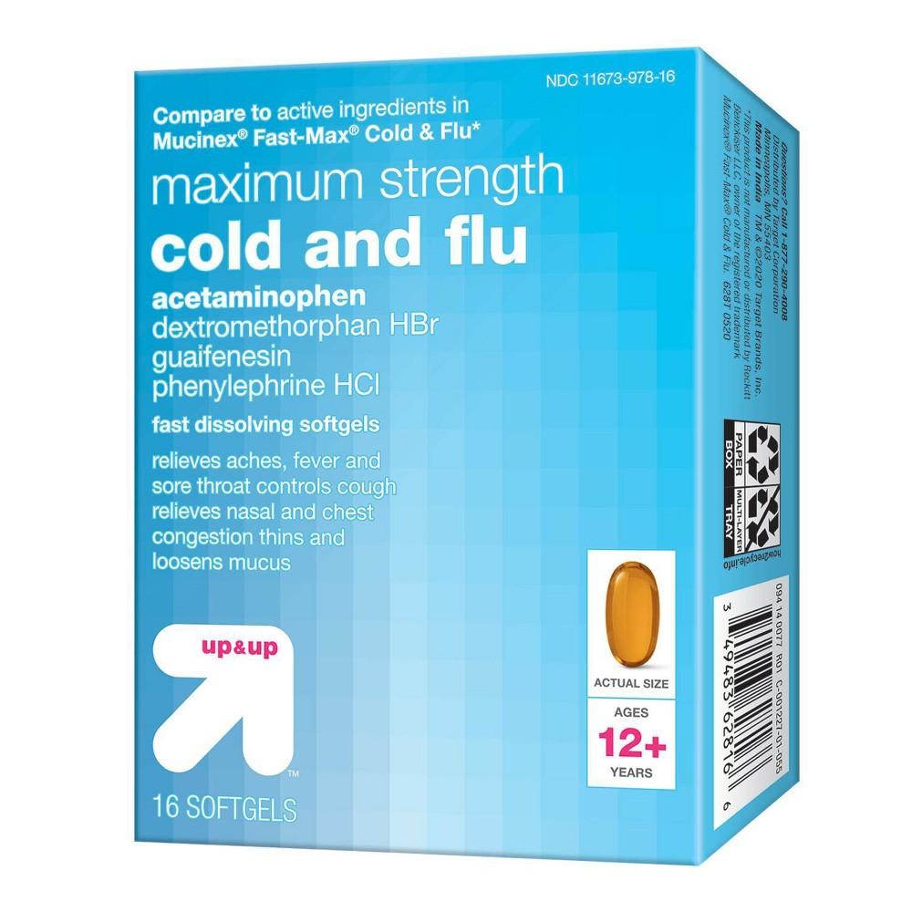Cold 38 Flu Liquid Gels 16ct Up 38 Up 8482