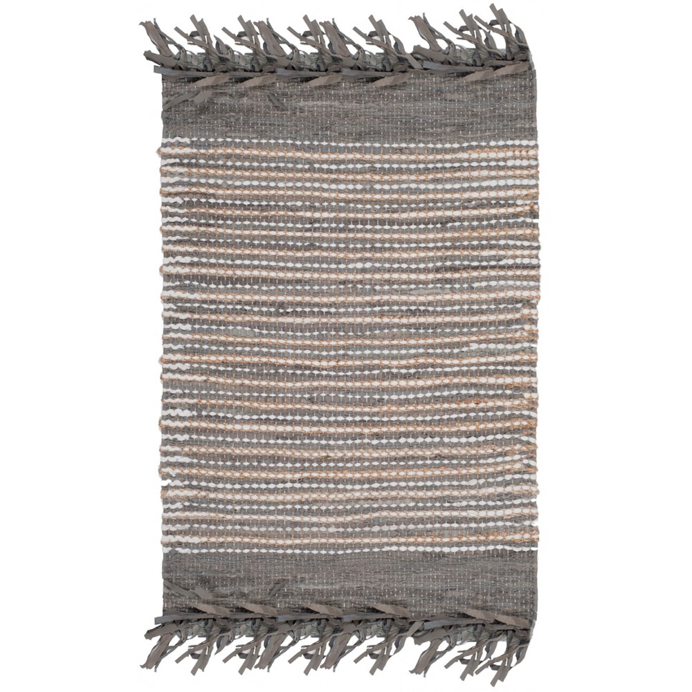 2'3X9' Woven Stripe Runner Rug Gray - Safavieh, Gray/Multi-Colored