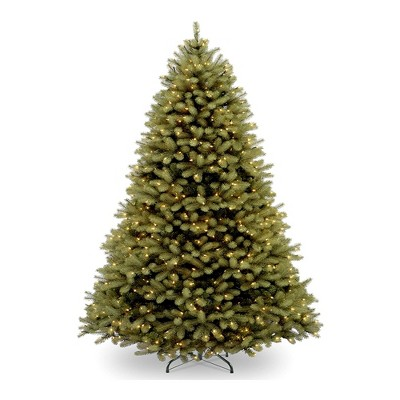 National Tree Feel Real 6 Foot Pre Light Artificial Douglas Fir Christmas Tree with White Lights, Realistic Branch Tips, and Tree Stand