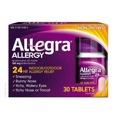Allegra 24 Hour Allergy Relief Tablets - Fexofenadine Hydrochloride