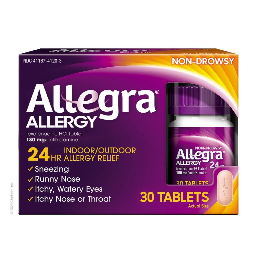 Allegra 24 Hour Allergy Relief Tablets Fexofenadine Hydrochloride 30ct