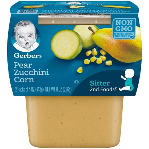 Gerber 2nd Foods Pear Zucchini Corn, 4oz, 2ct - image 1 of 4