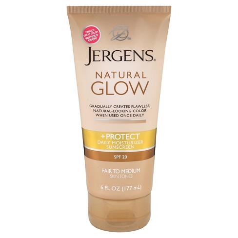 jergens natural glow moisturizer 6 oz spf 20 fair medium target