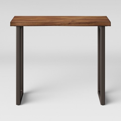 Thd Wood Top Console Table With Metal Legs Brown Project 62