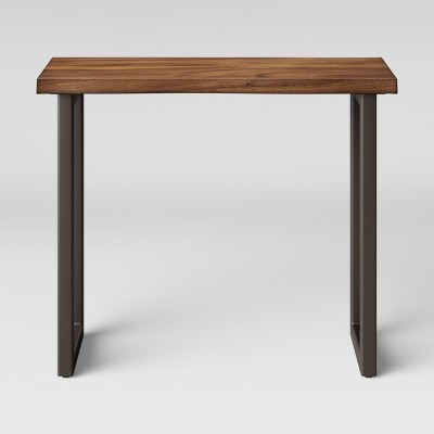 Thorald Wood Top Console Table With Metal Legs Brown   Project 62™