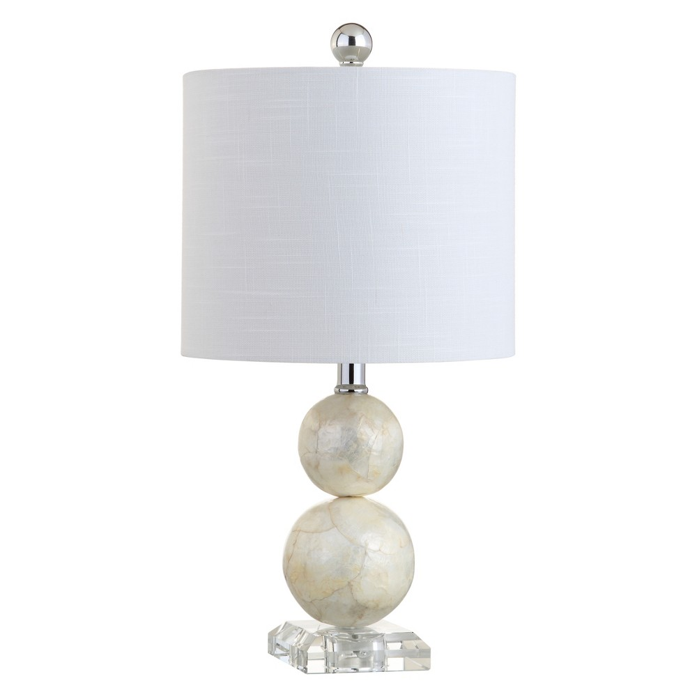 "Image of ""19"""" Bailey Seashell LED Table Lamp White (Includes Energy Efficient Light Bulb) - JONATHAN Y"""