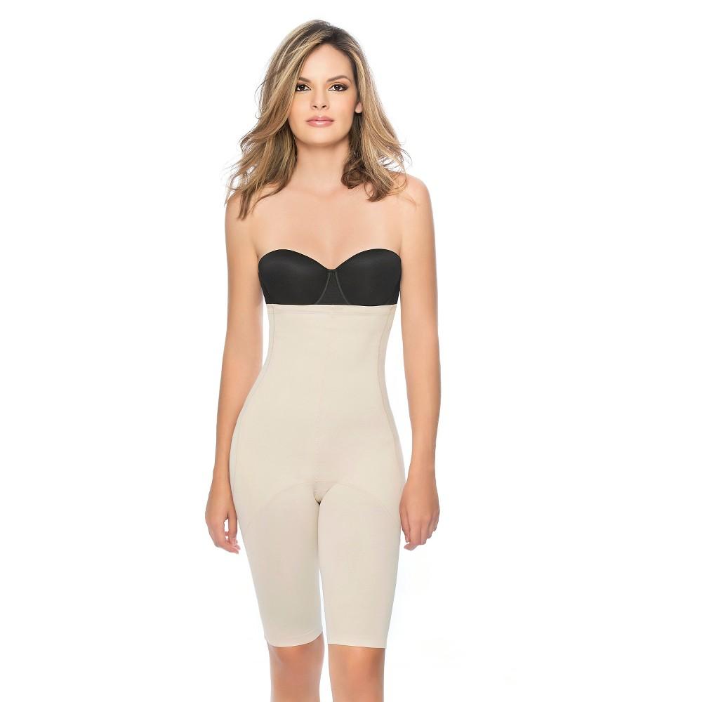 Annette Women's Faja Firm Control High Waist Mid-Thigh Short - Beige XL