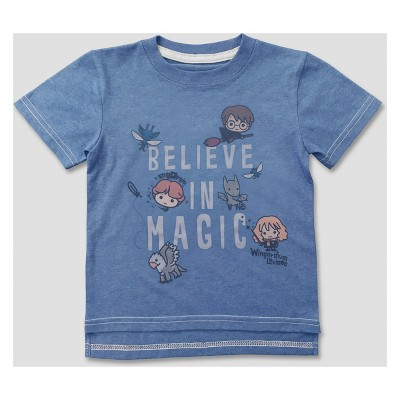 Toddler Boys' Harry Potter Short Sleeve T-Shirt - Blue 18M