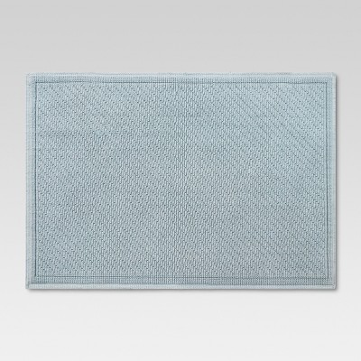 30 x21  Performance Solid Bath Mat Light Blue - Threshold™