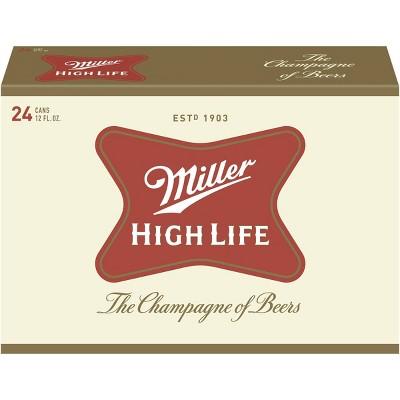 Miller High Life Beer - 24pk/12 fl oz Cans