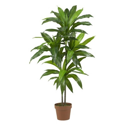 3.5ft Artificial Dracaena Silk Plant in Pot - Nearly Natural