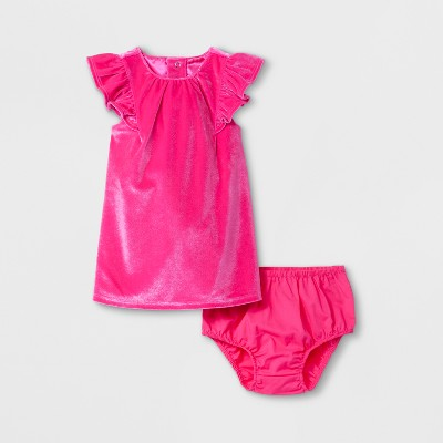 Baby Girls' A-Line Dress - Cat & Jack™ Pink 0-3 M