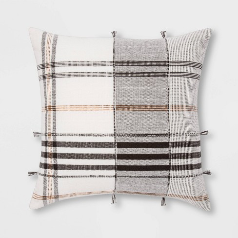 Square Woven Plaid Pillow - Threshold™ - image 1 of 4