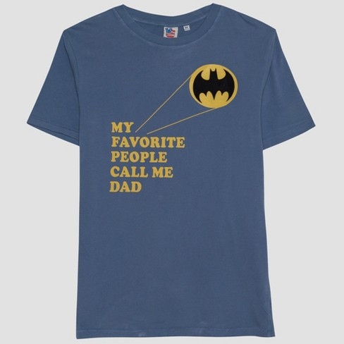 Junk Food Men's Batman Fathers Day Short Sleeve T-Shirt - Blue - image 1 of 2