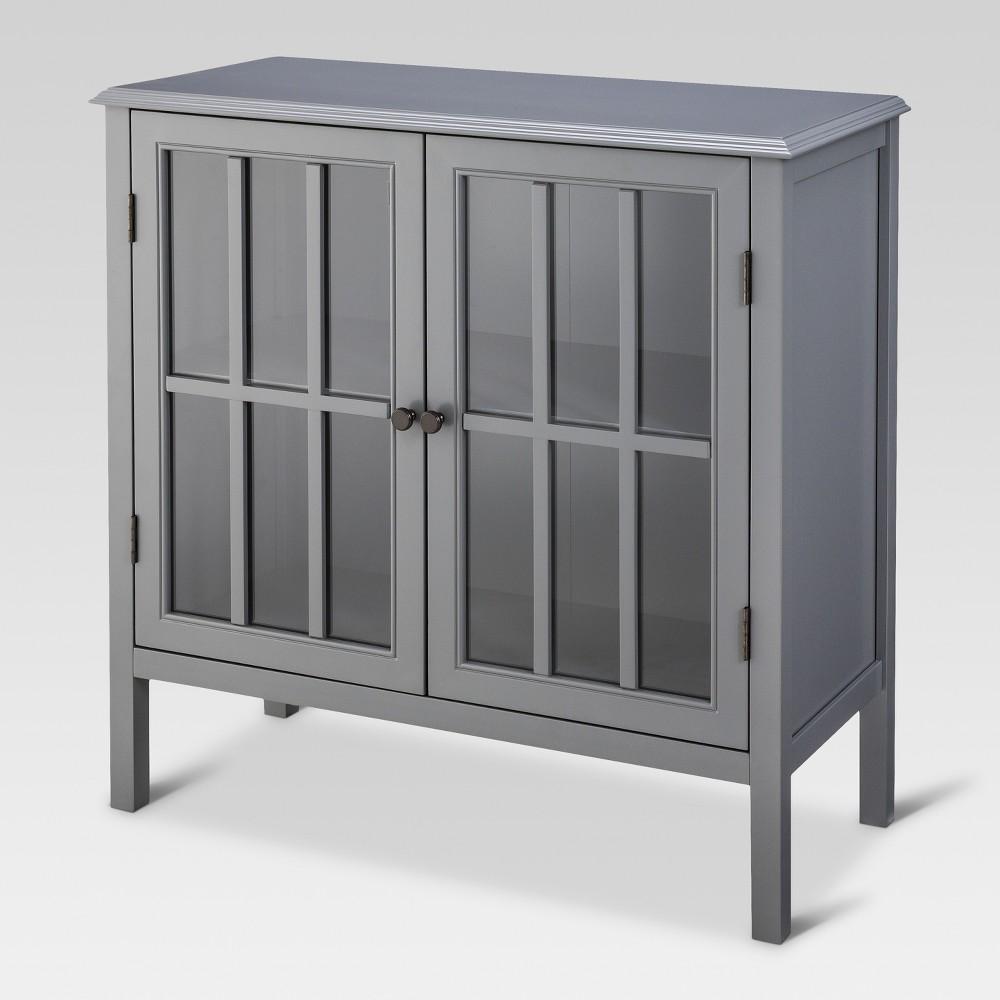 Windham 2 Door Accent Cabinet Cabinet - Gray - Threshold Top