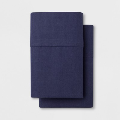 Solid Easy Care Pillowcase Set (King)Navy - Made By Design™