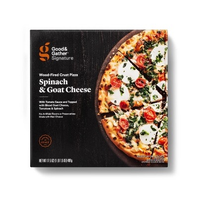 Signature Wood-Fired Spinach and Goat Cheese Frozen Pizza - 17.5oz - Good & Gather™