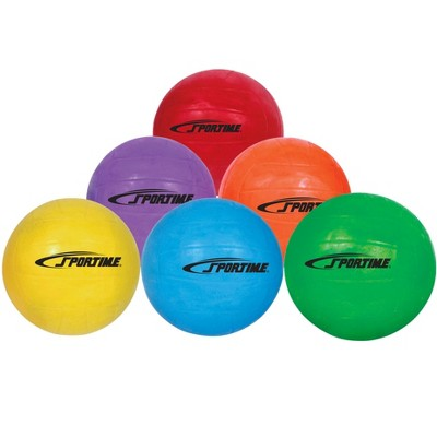 Sportime GradeBall Rubber Volleyballs, Assorted Colors, set of 6