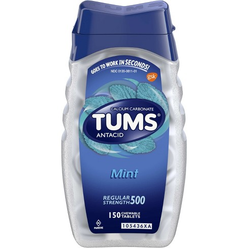 TUMS Regular Strength Antacid Chewable Tablets - Mint - 150ct - image 1 of 4