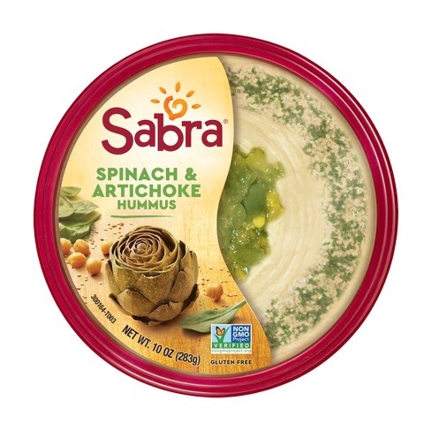 Sabra Spinach And Artichoke Hummus Dips - 10oz - image 1 of 4
