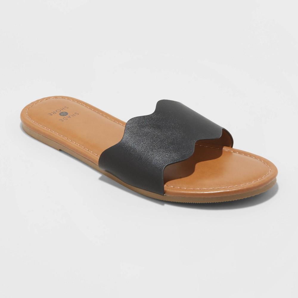 Women 39 s Kate Scalloped Slide Sandals Shade 38 Shore 8482