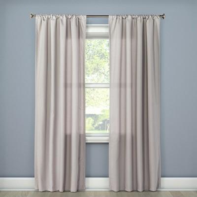 Twill Curtain Panel Gray (42 x 84 )- Room Essentials™