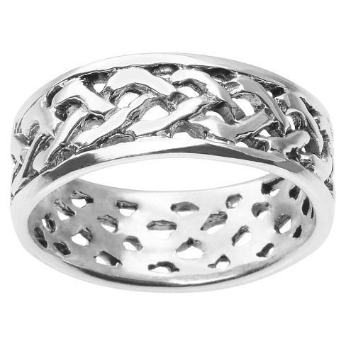 Women's Journee Collection Braided Design Band in Sterling Silver (8MM) - image 1 of 2