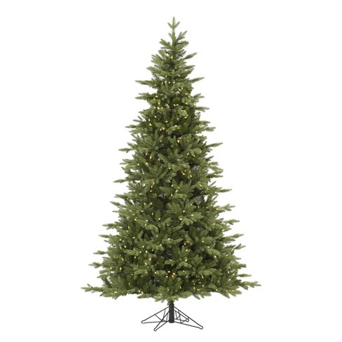 7 5ft Pre Lit Led Artificial Christmas Tree Full Balsam Fir Clear Lights