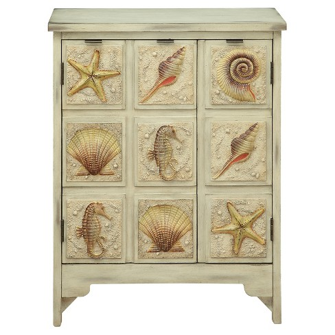 Coastal Two Door Cabinet - Sand - Christopher Knight Home - image 1 of 4