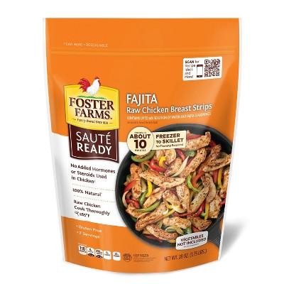 Foster Farms Sauté Ready Fajita Marinated Raw Chicken Breast Strips - Frozen - 28oz