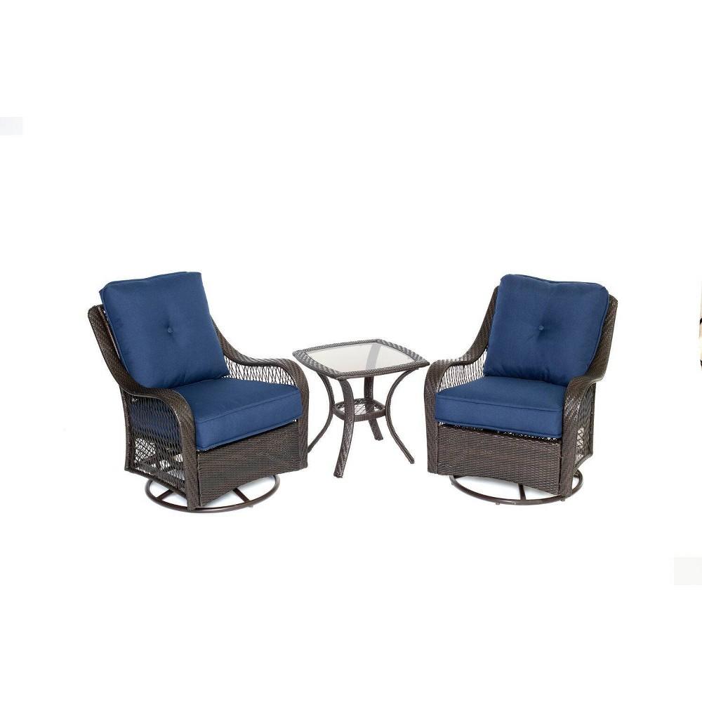 Merritt 3pc Swivel Glider Chair Seating Set Cambridge